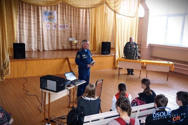 Усольские ветераны Вооружённых Сил посетили учащихся Тельминской школы