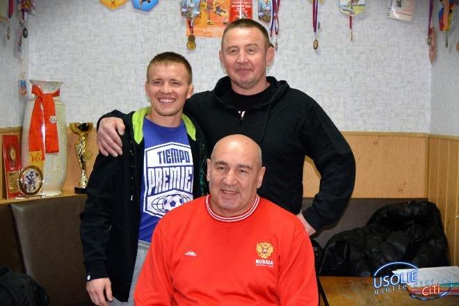 В Усолье в гостях побывал  именитый борец - чемпион мира Анатолий Москвитин