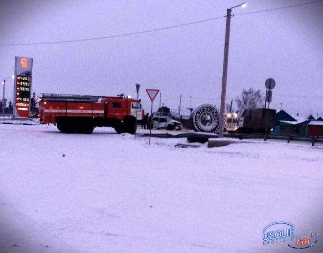 Подробности.  Страшная авария произошла с участием маршрутного такси в Усольском районе