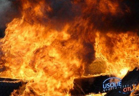 В Усолье сгорел гараж с автомобилем