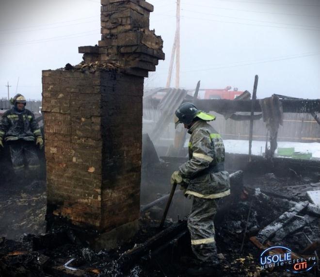 Названа причина смертельного пожара в Усольском районе
