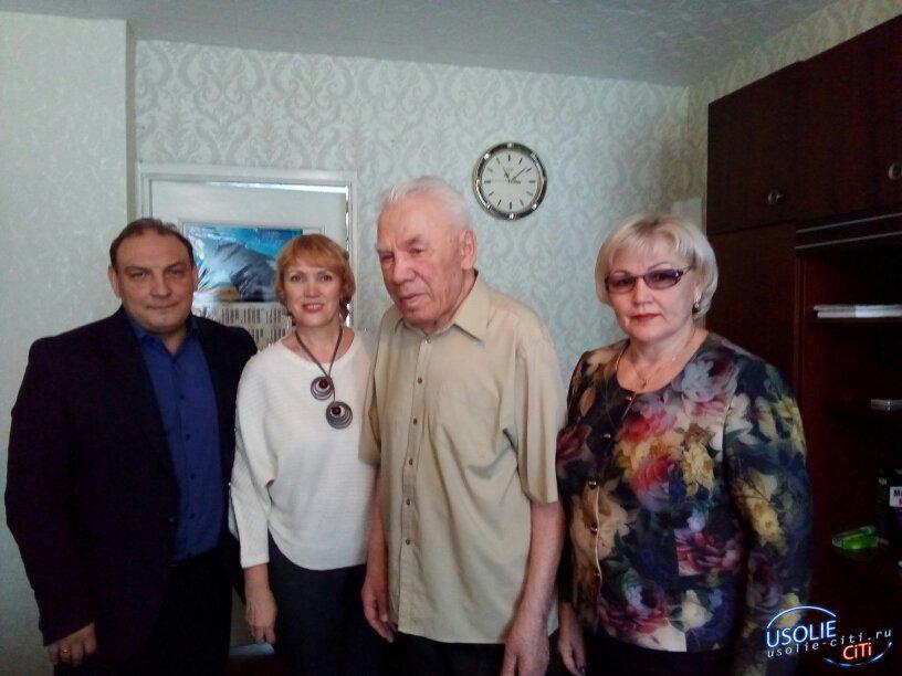Усольский ветеран войны Александр Урбалайнен отметил 90-летний юбилей