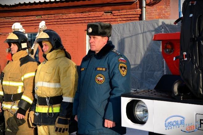 Усольские пожарные обращаются к жителям города и района