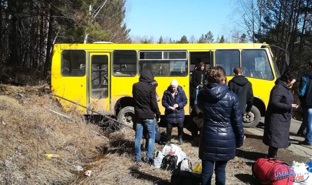 Чудом остались живы, отказали тормоза у автобуса Мишелевка-Усолье