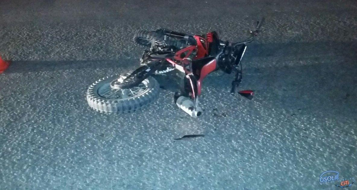 Усольский пьяный мотоциклист врезался в
