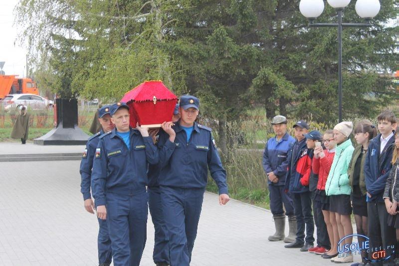 Солдат вернулся домой…..В Усолье состоялась передача останков фронтовика его родным