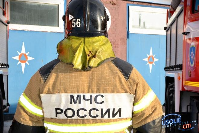 В Усольском районе спалили заброшенный дом