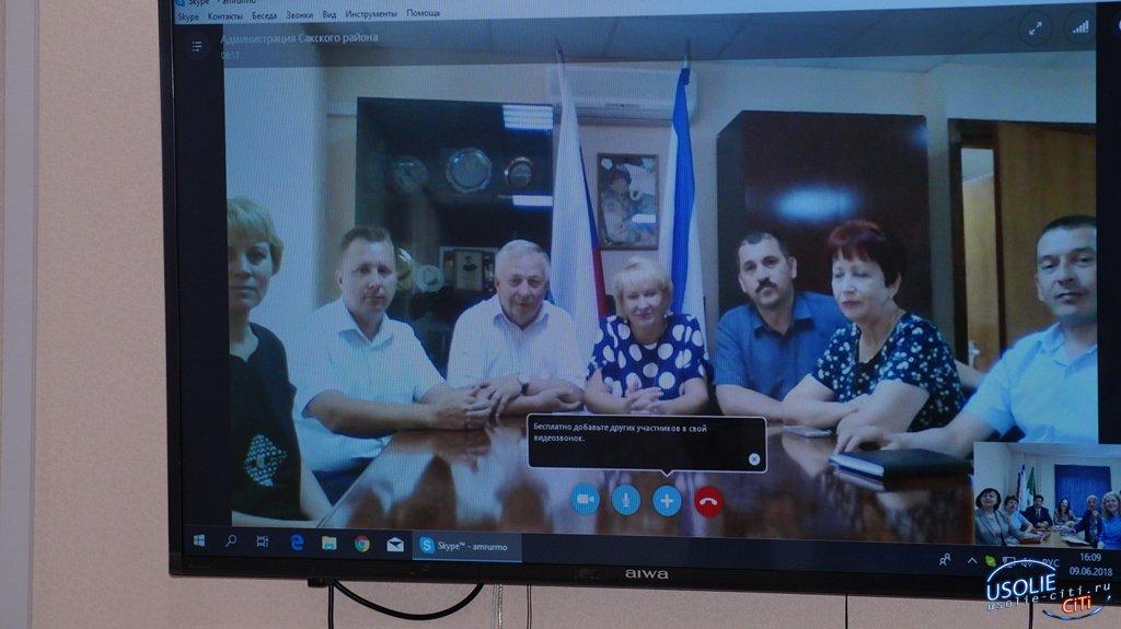 Состоялся видеомост Усольского района с Сакским районом Республики Крым