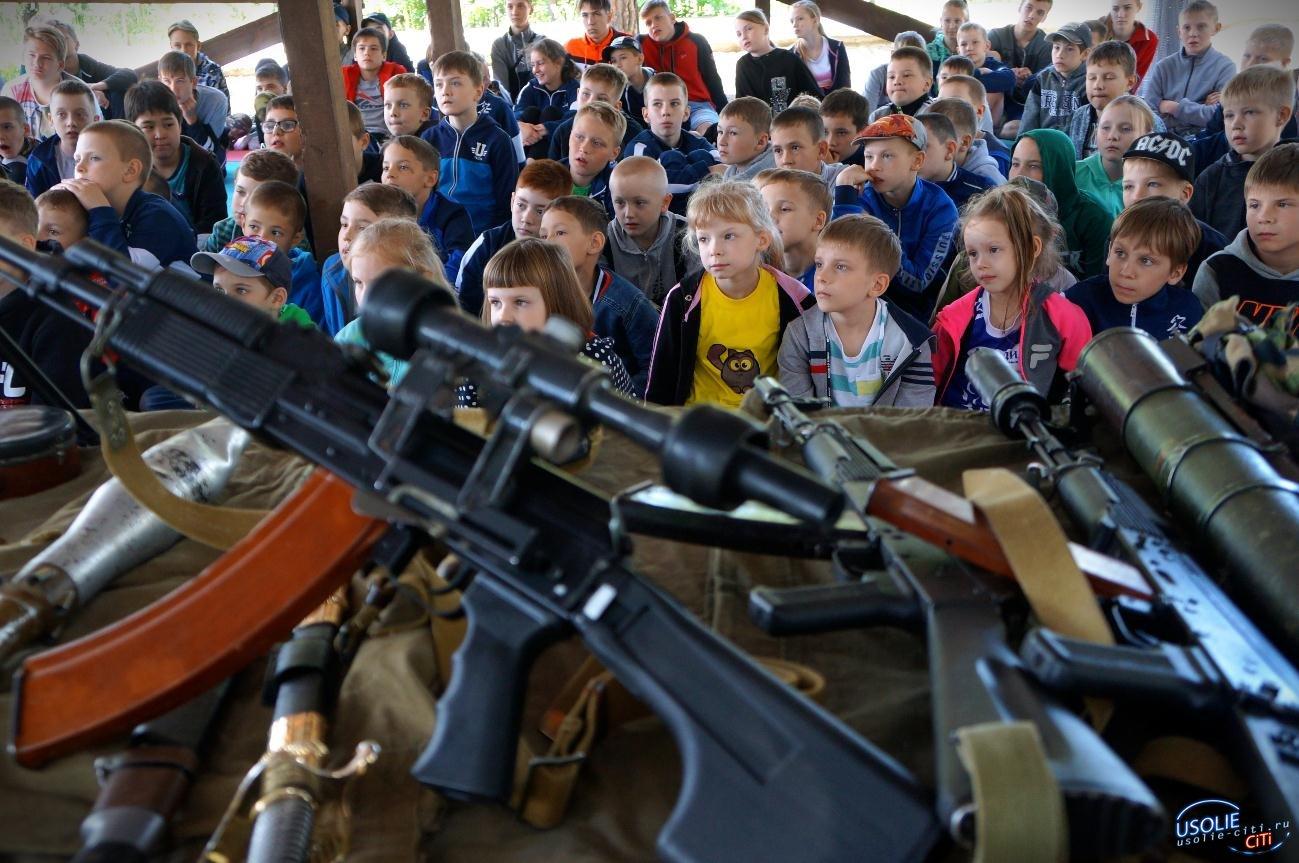 Усольские ветераны МВД посетили детей в спортивном лагере