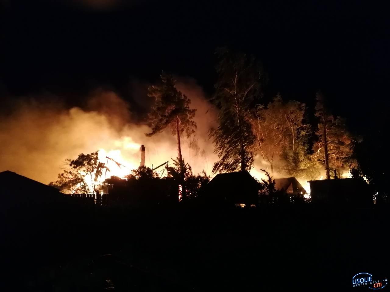 В Усолье ночью сгорели дачи в садоводстве