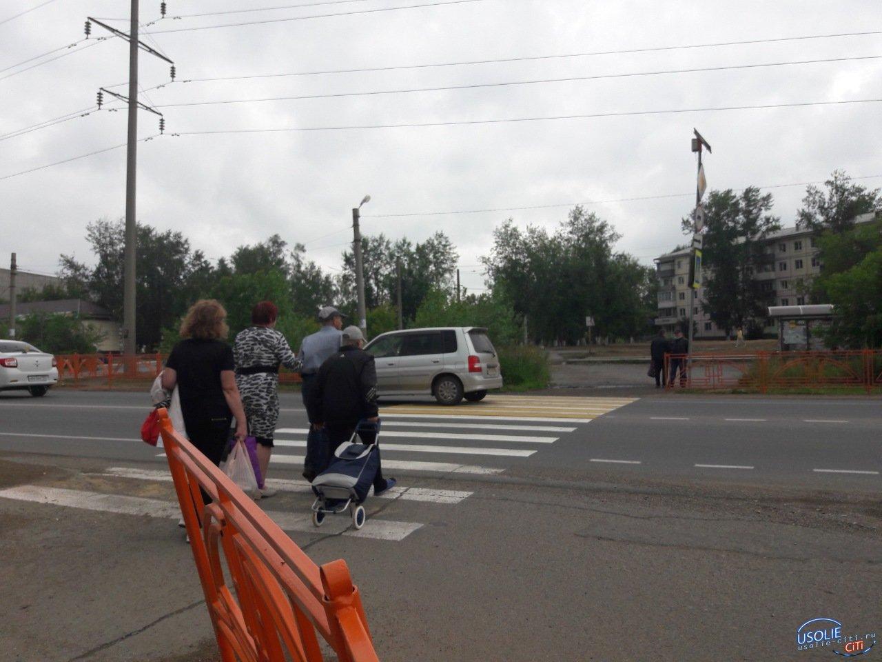 30-летний усольчанин попал под колеса машины на пешеходном переходе возле ТЦ