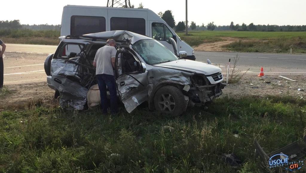 В Усольском районе при столкновении с грузовиком погиб водитель кроссовера