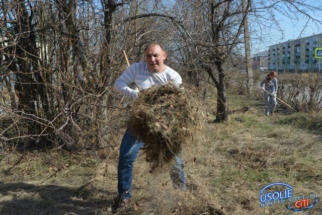 Пришло время большой уборки в Усолье и посадки деревьев