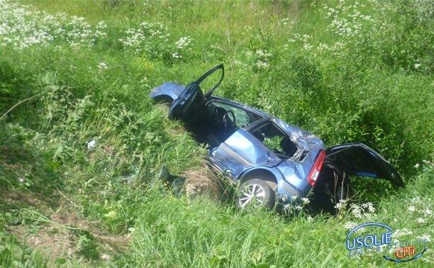 В Усольском районе автоледи улетела в кювет