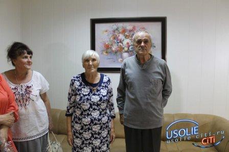 В усольском ЗАГСе бриллиантовую свадьбу отметили супруги Усачевы