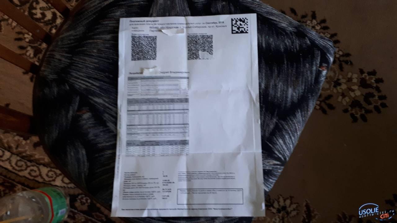 Усольчане получили квитанции ЖКХ, но смогли их разглядеть только с помощью лупы