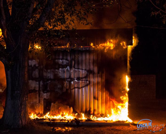 В Усолье подожгли павильон компании
