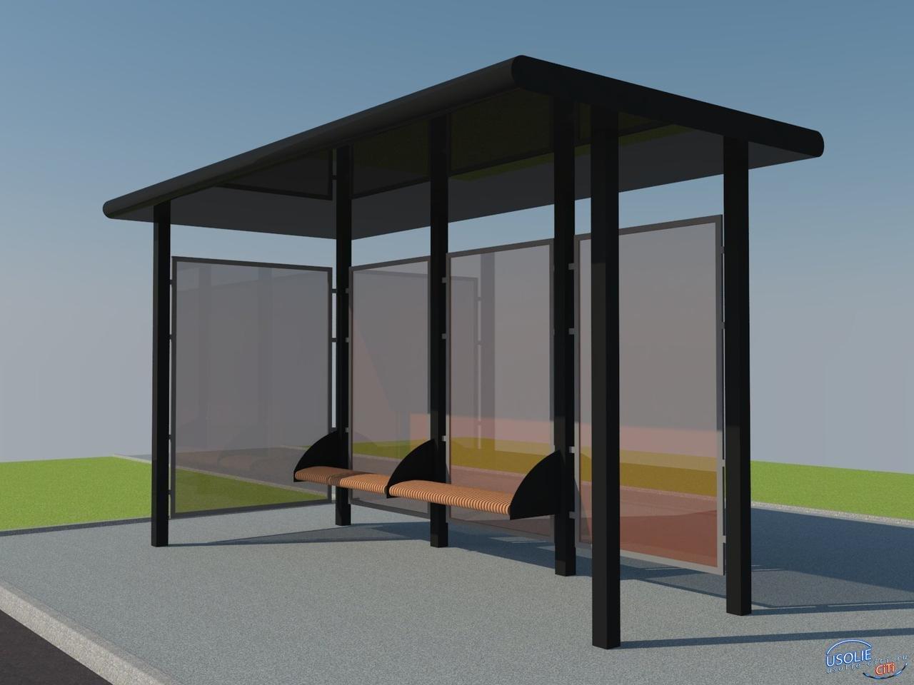 Новые остановочные пункты в Усолье будут сделаны из антивандального стекла