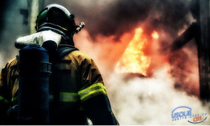 На глазах хозяев сгорели дом, гараж и баня в Усольском районе