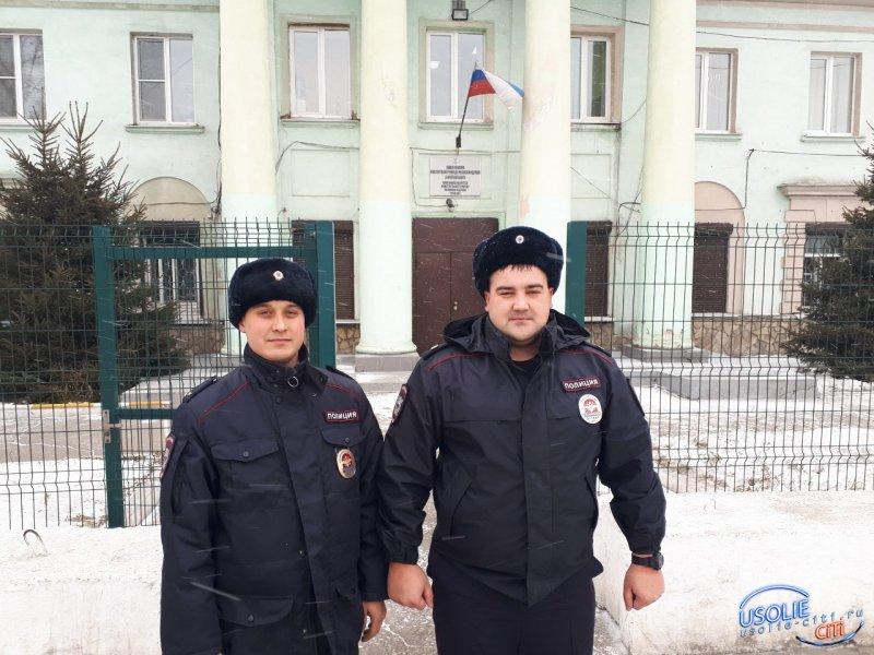 Усольские полицейские спасли человека на пожаре