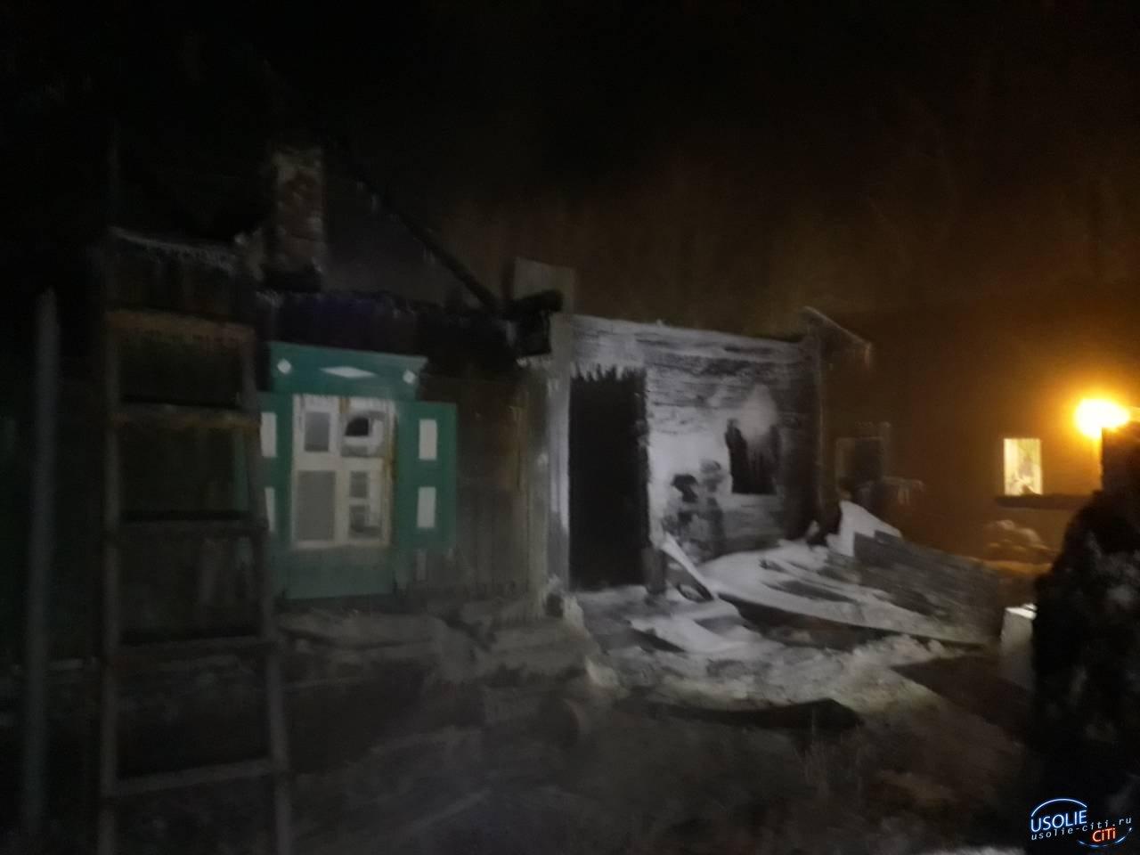 Страшный пожар в Тайтурке. Семья осталась без крова