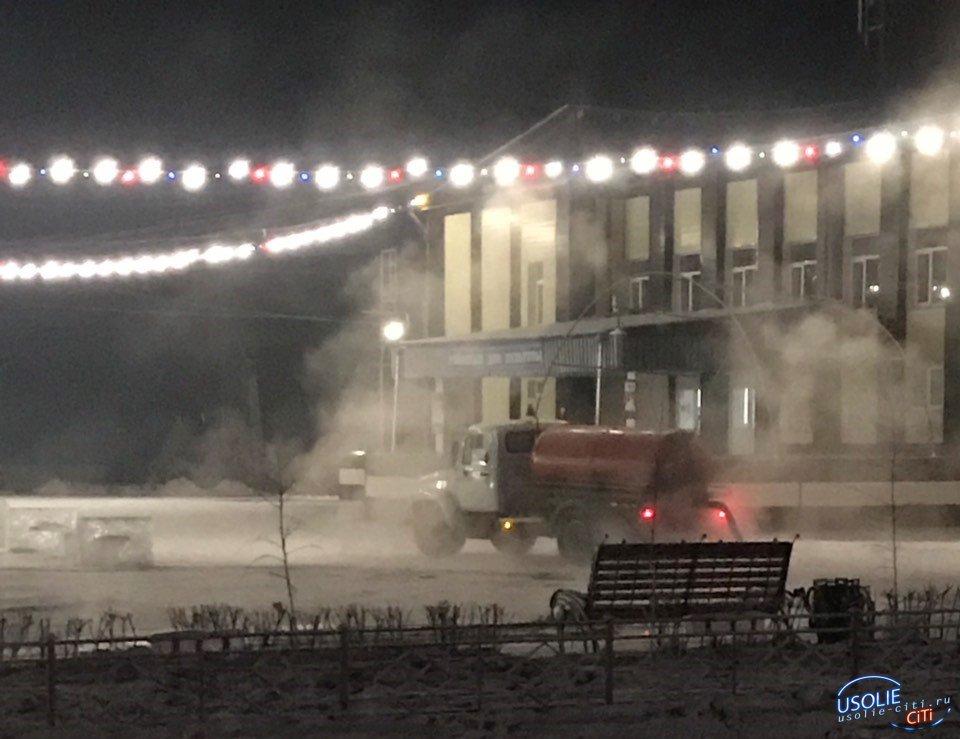 В новогоднюю ночь белореченцы радовались салюту под запах и журчание канализации