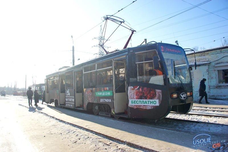 Московские трамваи вышли на  линию и начали возить усольчан