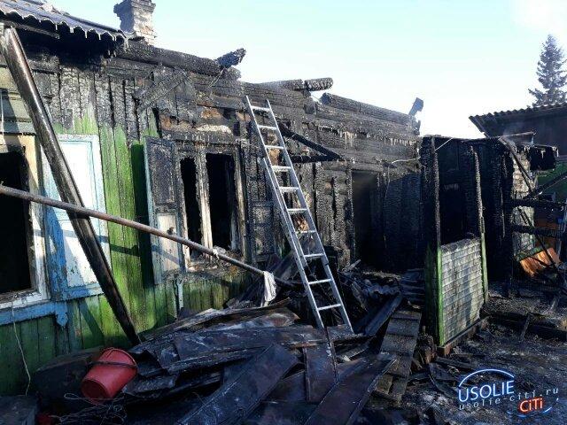 Трагедия: В Усолье сгорел дом, хозяин погиб, его сын в реанимации