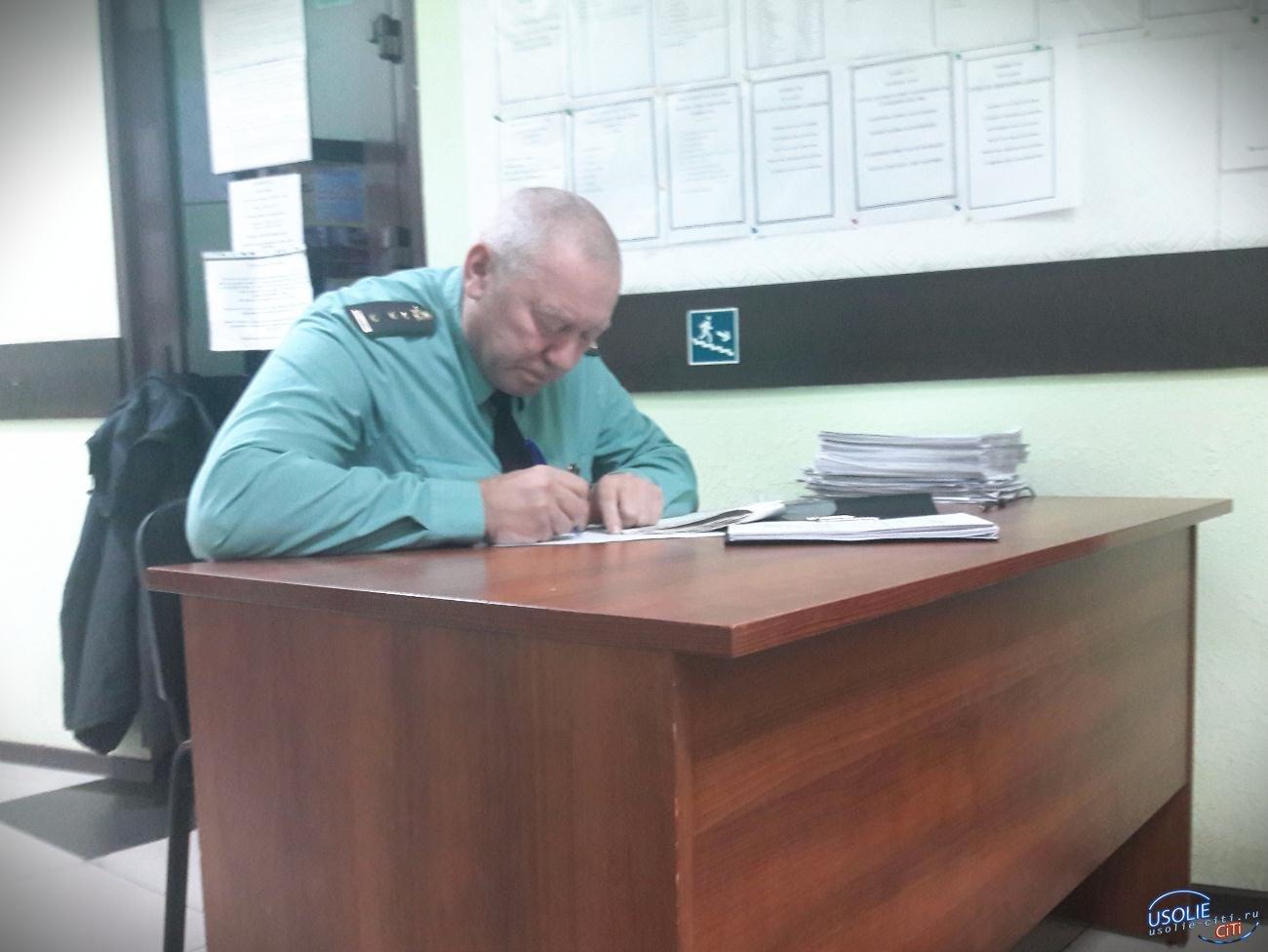 Усольчанин оплатил штраф после ареста машины