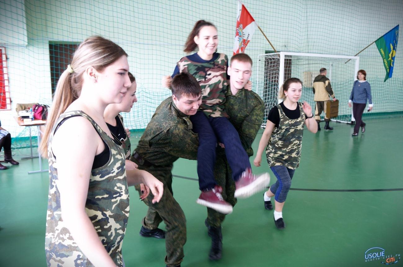 В Усолье прошла военно-спортивная эстафета памяти Потапова Василия