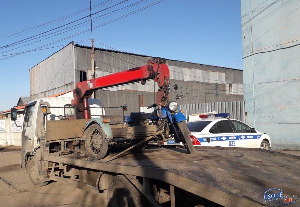 Усольские полицейские объявили охоту на мотоциклистов