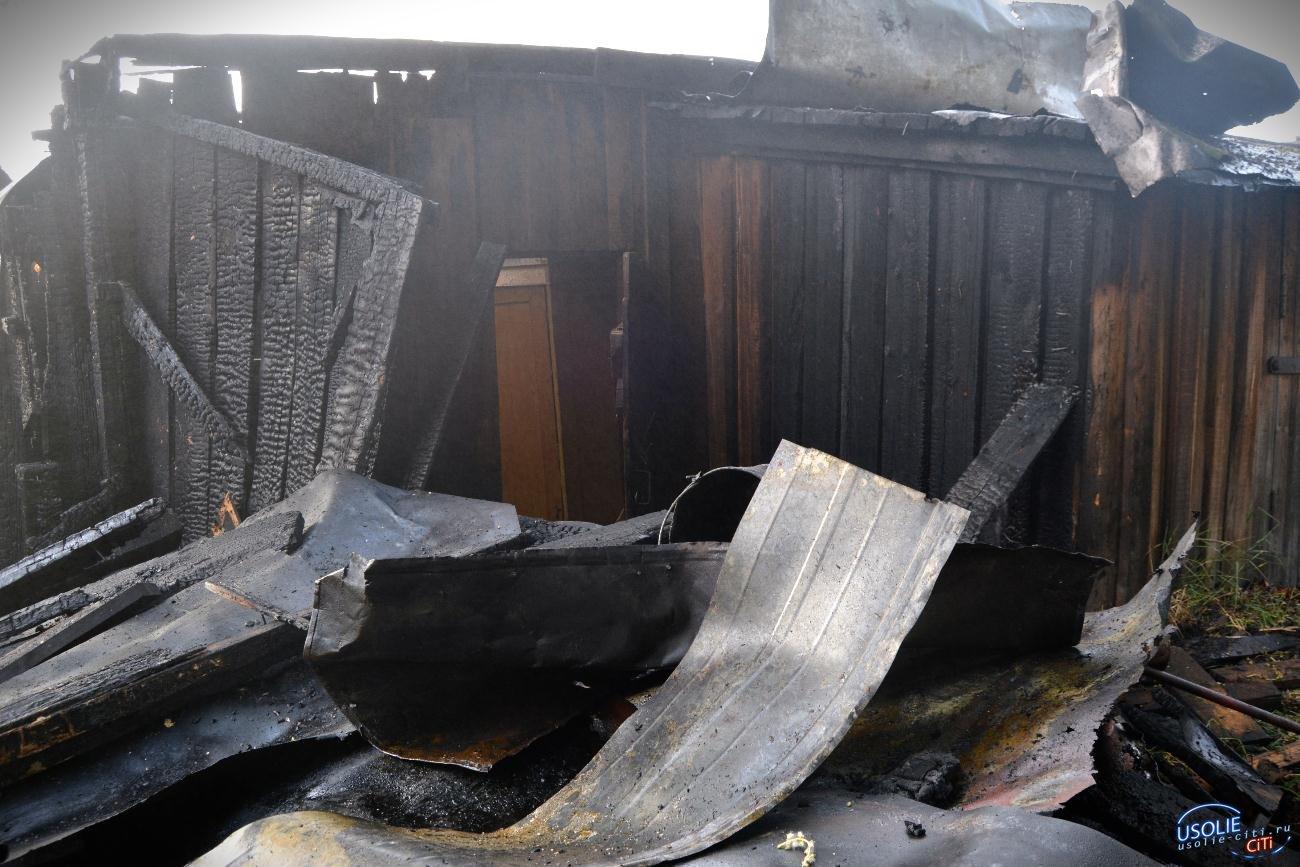 В Усолье сгорели два строительных вагончика