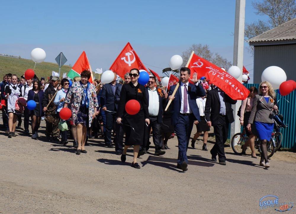 Великой Победе посвящается…В Усольском районе запустили в небо белых журавлей