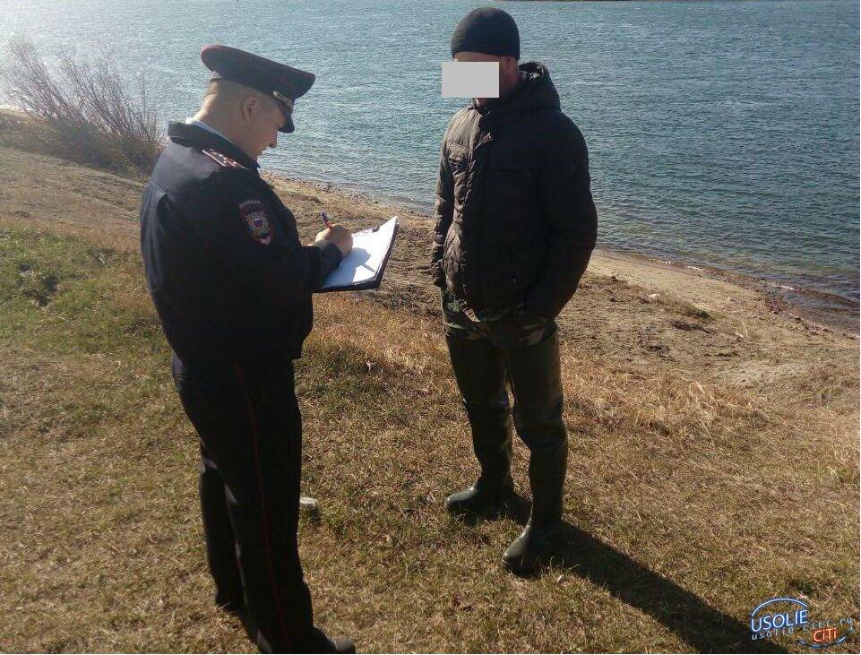 Бдительный усольский участковый полиции поймал браконьера