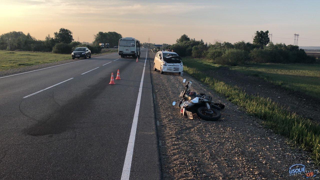 Усольский подросток на Сузуки попал в аварию