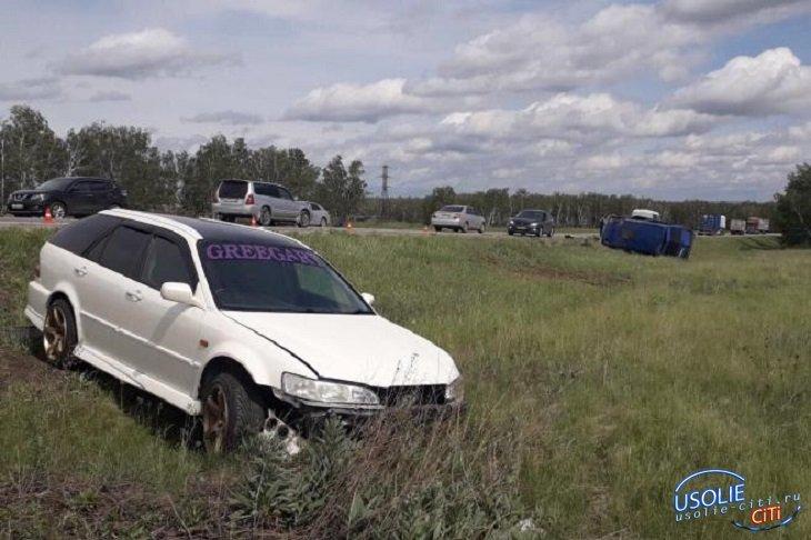 В аварии с маршруткой в Усольском районе пострадали пять человек