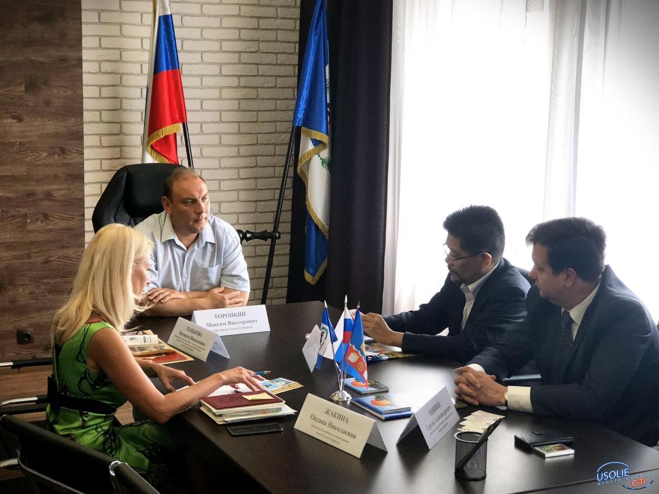 Мэр Усолья Максим Торопкин встретился с заместителем Генерального Консульства Японии в Хабаровске