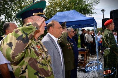 Отец Михаил освятил в Усолье мемориал
