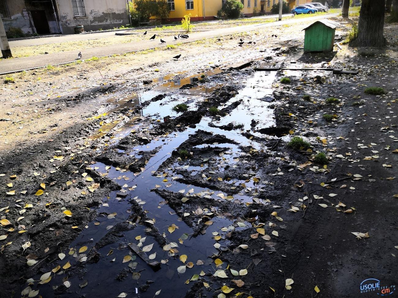 В Усолье на улице Энгельса возникло озеро