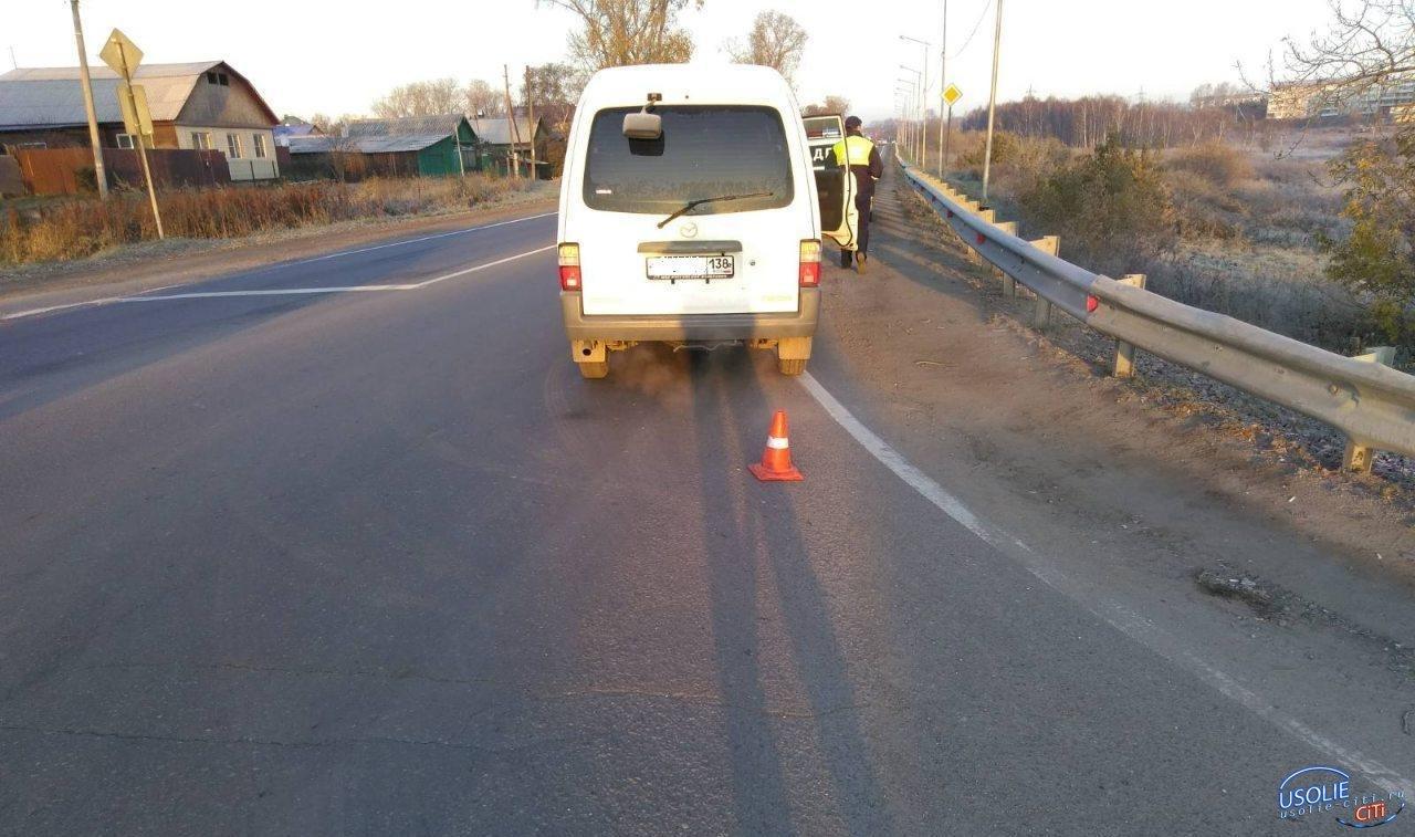 Усольчанка попала под колёса микроавтобуса