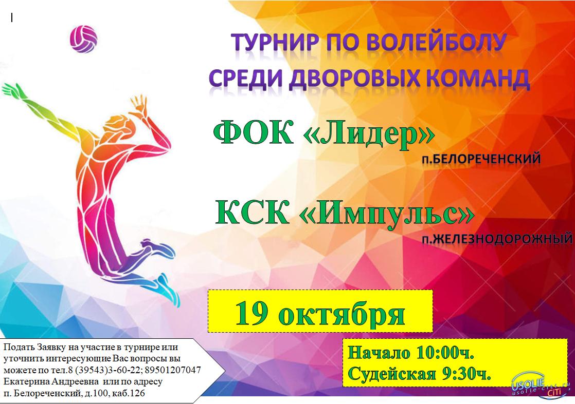 Турниры по волейболу пройдут в Усольском районе