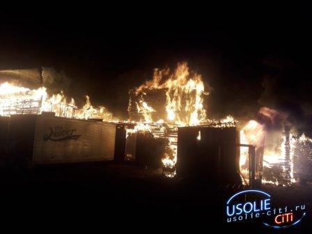 В Усолье хулиганы подожгли здание