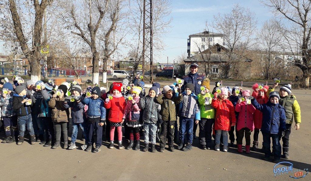 В Усольском районе сотрудники ГИБДД патрулируют дороги совместно с юными помощниками
