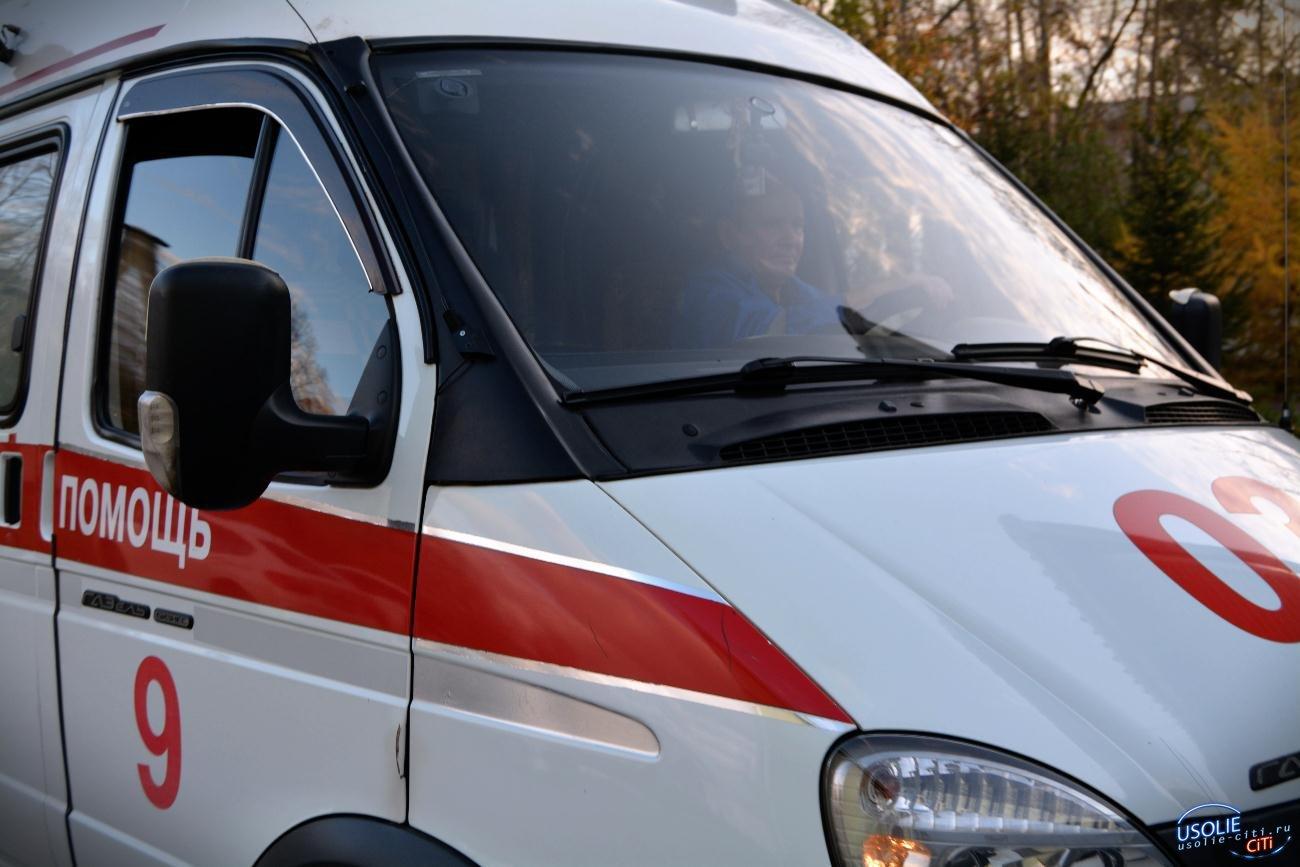 В Усолье Land Cruiser пострадал от столкновения с грузовиком