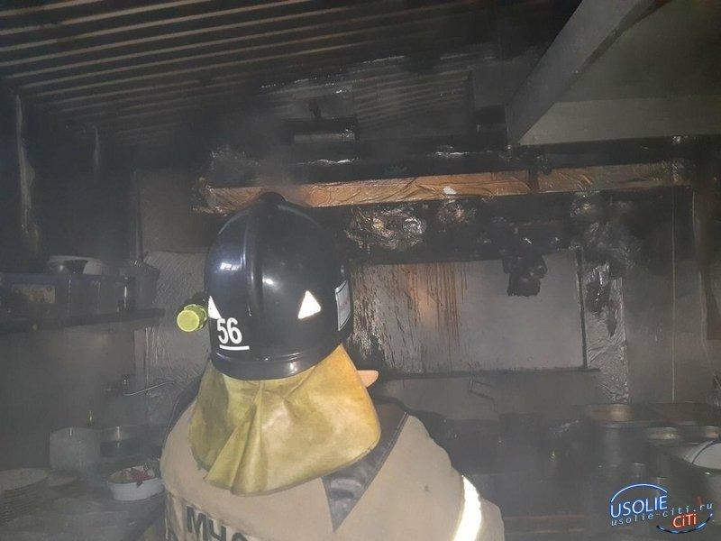16 человек эвакуировались из горящего кафе «Харбин» в Усолье