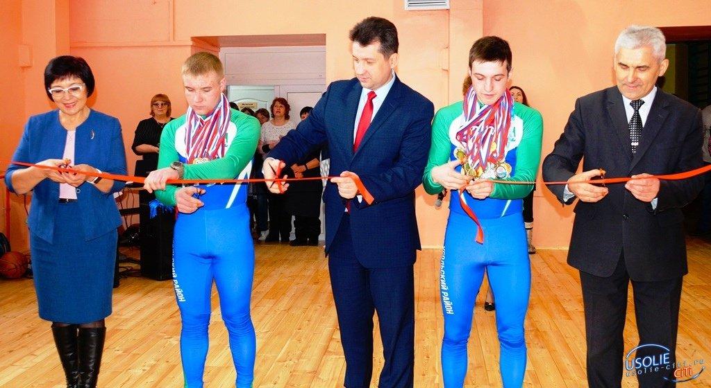 В Большой Елани Усольского района открылся после ремонта спортзал