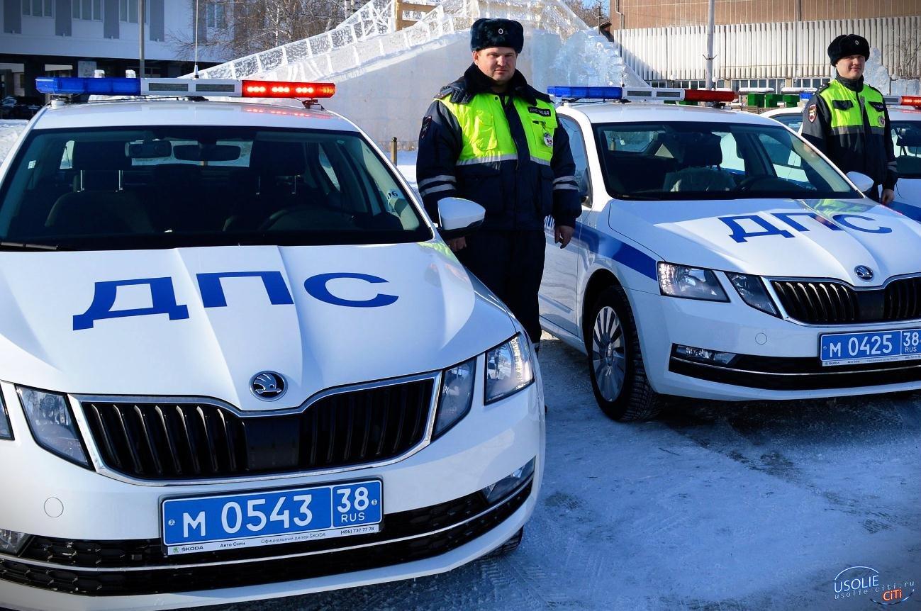 Новенькие автомобили усольских полицейских разгоняются до 233 км/ч