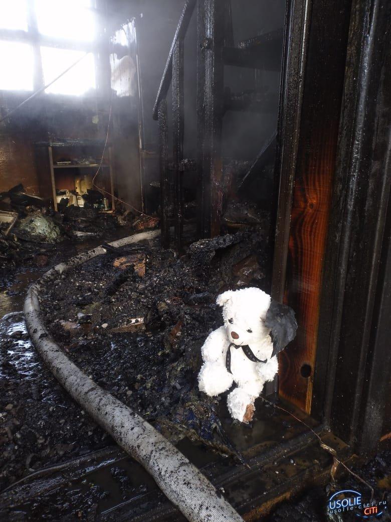 В Усолье на улице Клары Цеткин сгорел дом