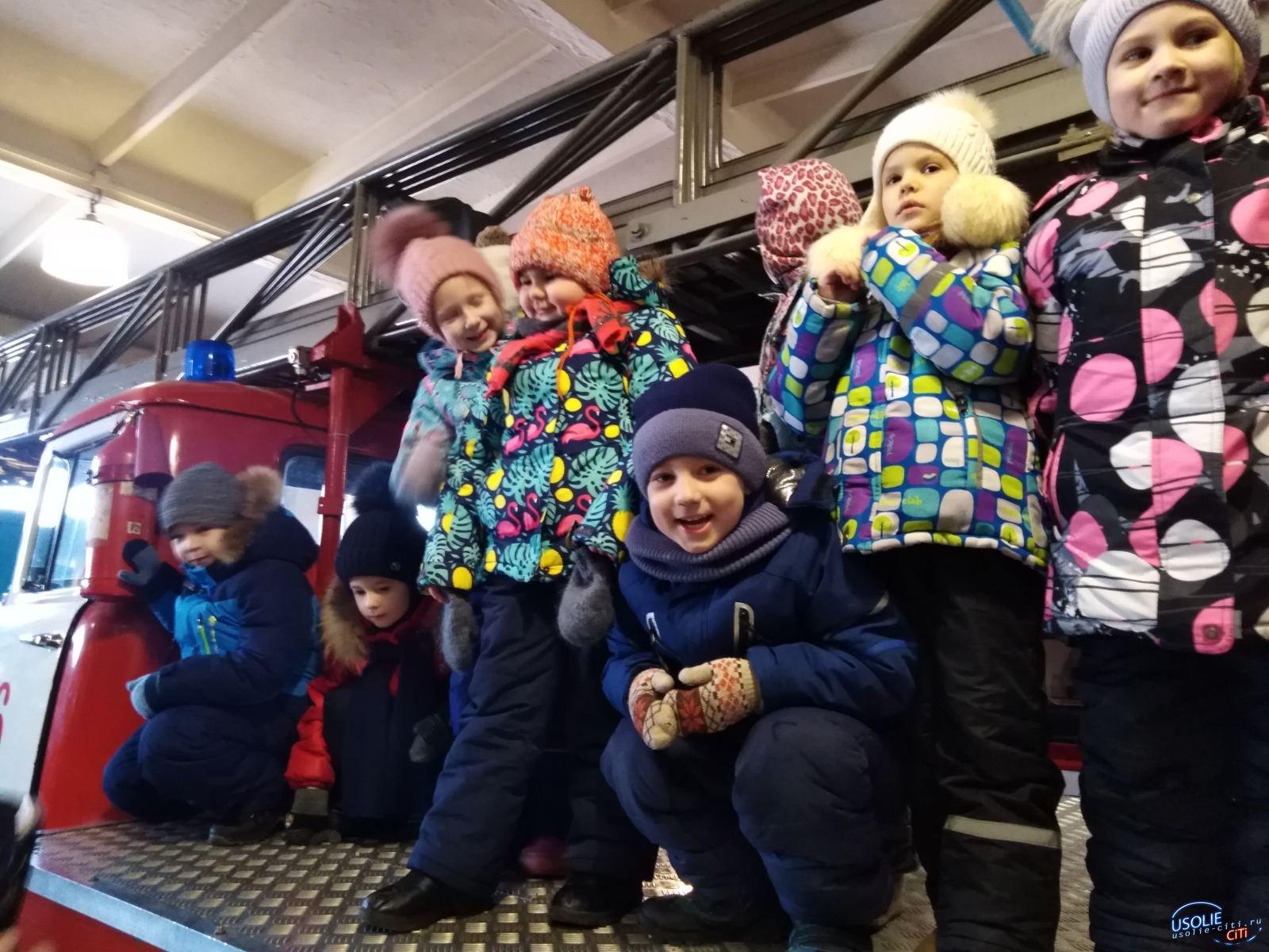 В Усолье ребята из детского сада 32 побывали в пожарной части