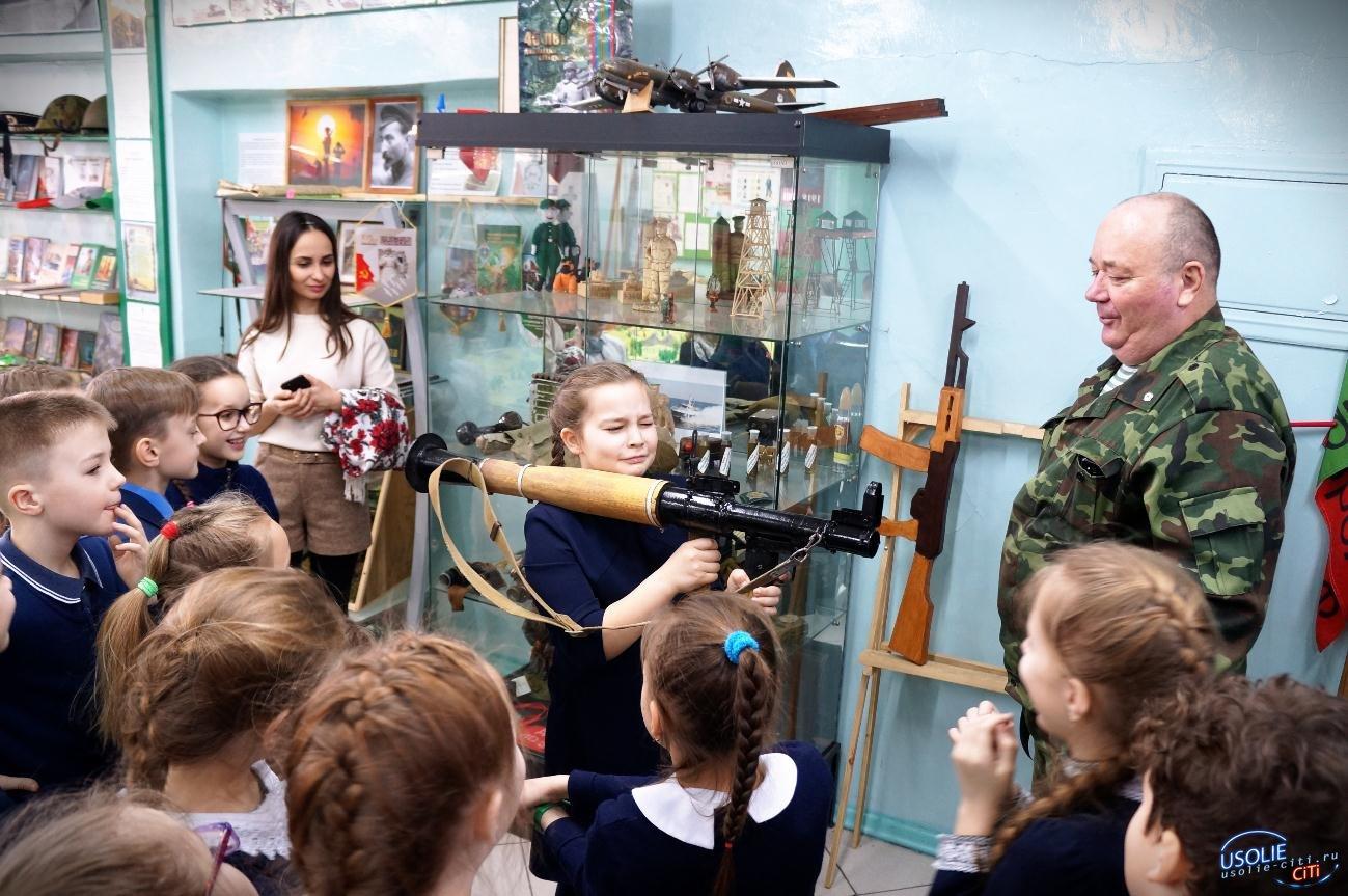 Маленькие усольчане посетили музей Пограничных войск